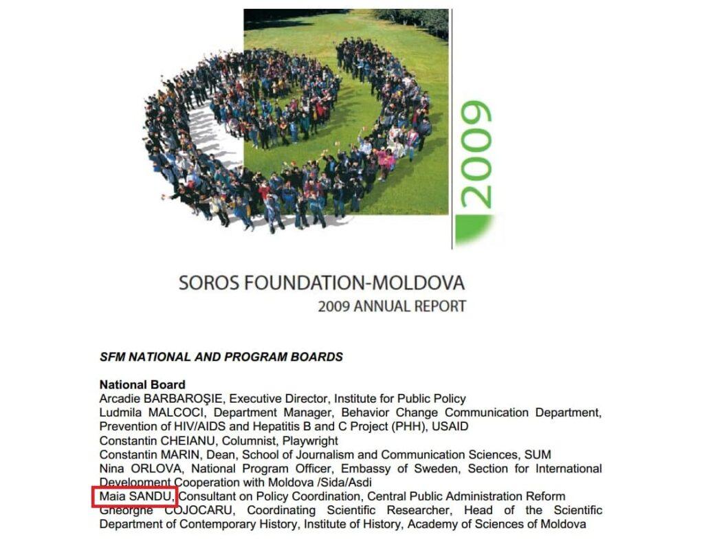 Лидер ПДС Майя Санду в 2009 году входила в национальный совет молдавского Фонда Сороса 2 12.05.2021