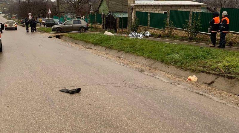 /FOTO/ O femeie din raionul Sângerei a murit după ce a fost lovită de o mașină. Șoferul a fugit de la fața accidentului
