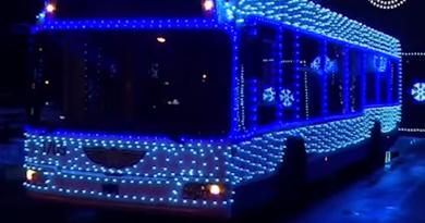 Pe străzile din Bălți circulă troleibuze decorate în stilul sărbătorilor de iarnă