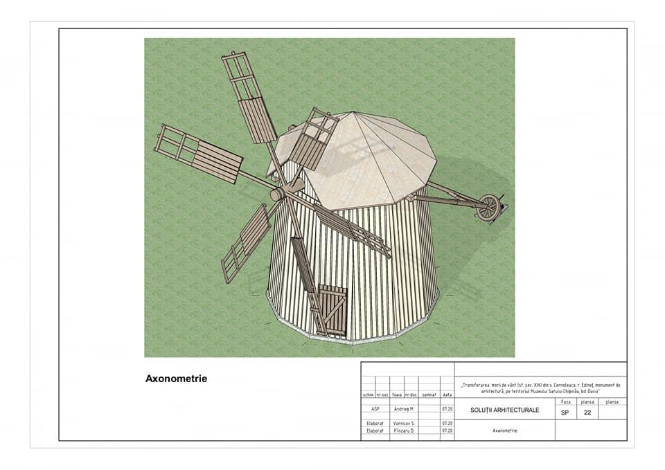 /FOTO/ Moara de vânt din satul Cernoleuca, raionul Dondușeni, va fi restaurată 1 15.05.2021