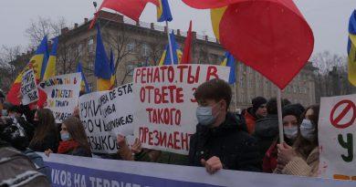 В центре Бэлць сторонники и члены Партии социалистов (ПСРМ) собрались на митинг «в защиту русского языка» 4 12.05.2021