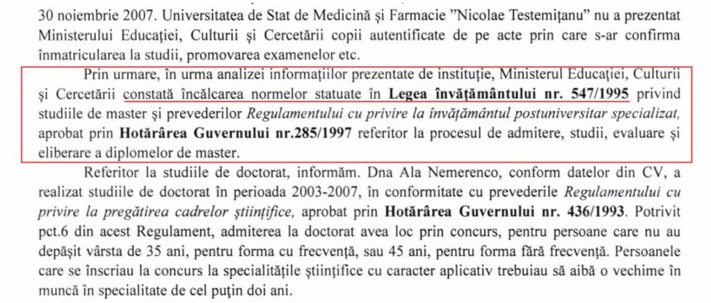 Советник Майи Санду по вопросам здравоохранения Алла Немеренко получила диплом мастерата незаконно 1