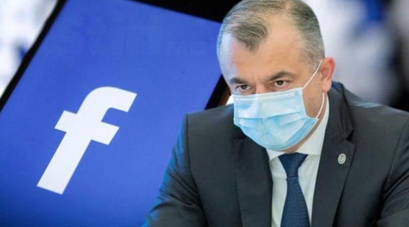 Ion Chicu își blochează pagina de Facebook și trece pe Telegram