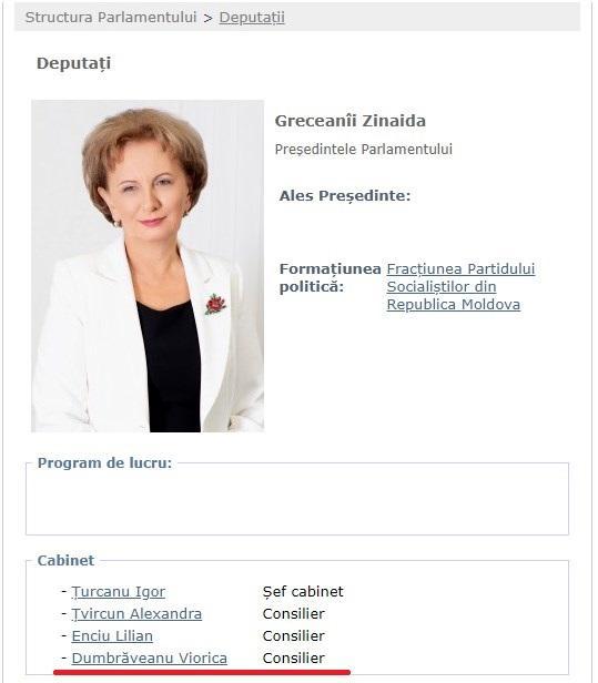 Din Guvern în Parlament. Fostul Ministru al Sănătăţii, Viorica Dumbrăveanu, a devenit consilierul Zinaidei Greceanîi 1 12.04.2021