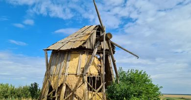 /FOTO/ Moara de vânt din satul Cernoleuca, raionul Dondușeni, va fi restaurată