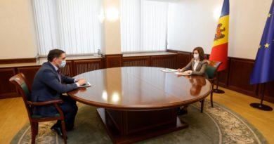 Президент Молдовы Майя Санду провела рабочую встречу с генеральным прокурором Александром Стояногло 4 08.03.2021