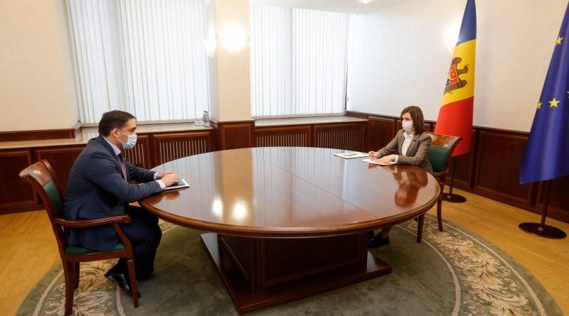 Президент Молдовы Майя Санду провела рабочую встречу с генеральным прокурором Александром Стояногло 1 08.03.2021