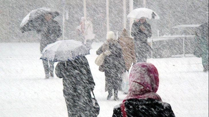 Atenție! Republica Moldova se află sub Cod Galben de lapoviță și ninsoare