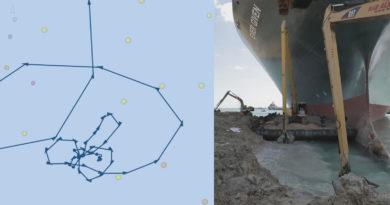 """Foto Перед тем, как застрять в Суэцком канале, контейнеровоз """"нарисовал"""" своим маршрутом пенис и ягодицы (ФОТО) 5 29.07.2021"""