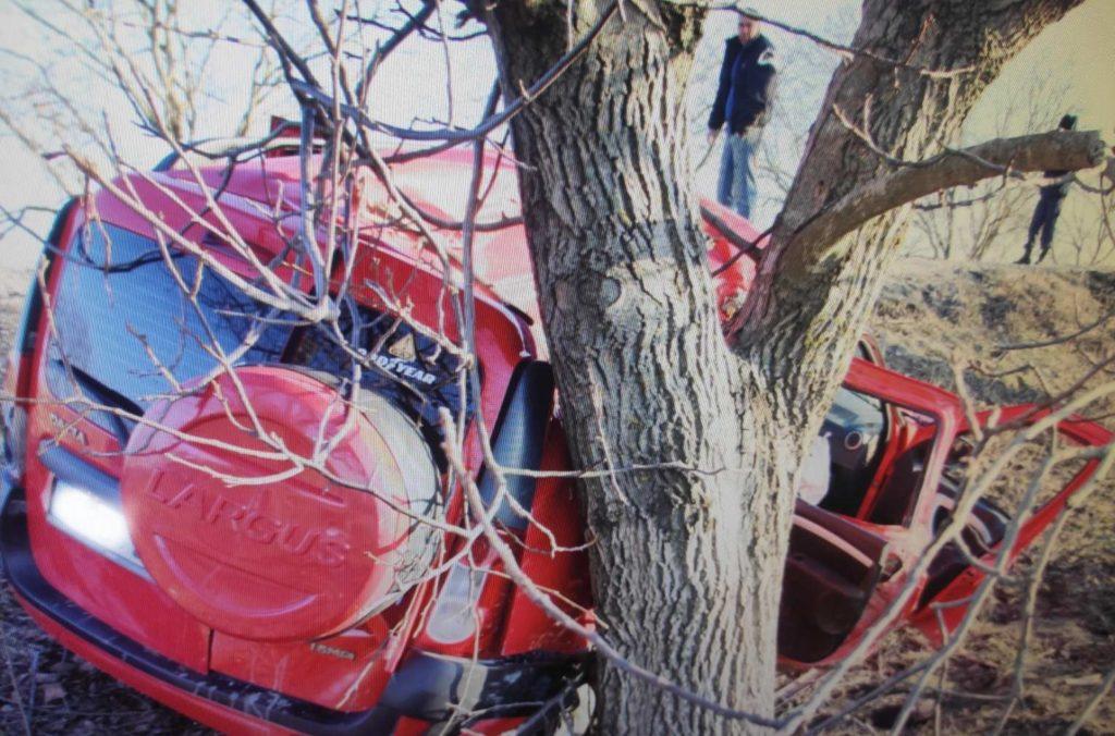 Foto /FOTO/ Grav accident în raionul Fălești. Un bărbat în stare de ebrietate a ajuns cu mașina într-un copac, doi pasageri în stare gravă la spital 1 29.07.2021