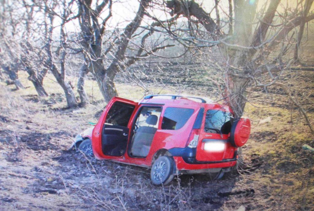 Foto /FOTO/ Grav accident în raionul Fălești. Un bărbat în stare de ebrietate a ajuns cu mașina într-un copac, doi pasageri în stare gravă la spital 3 29.07.2021