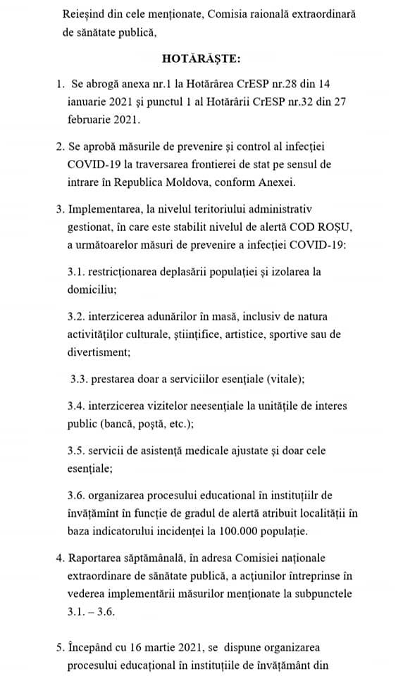 /DOC/ Situația epidemiologică în raionul Soroca se agravează. 22 de localități sub Cod Roșu de răspândire a infecției COVID-19 2 18.04.2021