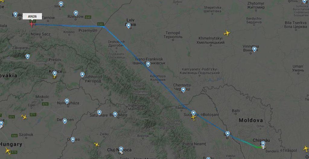 В Молдове происходят ночные «шпионские игры» с участием грузовых транспортных самолетов «Antonov»? 7 18.04.2021