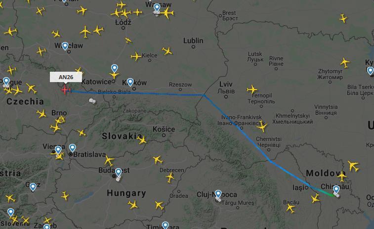 В Молдове происходят ночные «шпионские игры» с участием грузовых транспортных самолетов «Antonov»? 8 18.04.2021