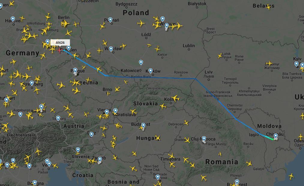 В Молдове происходят ночные «шпионские игры» с участием грузовых транспортных самолетов «Antonov»? 9 18.04.2021