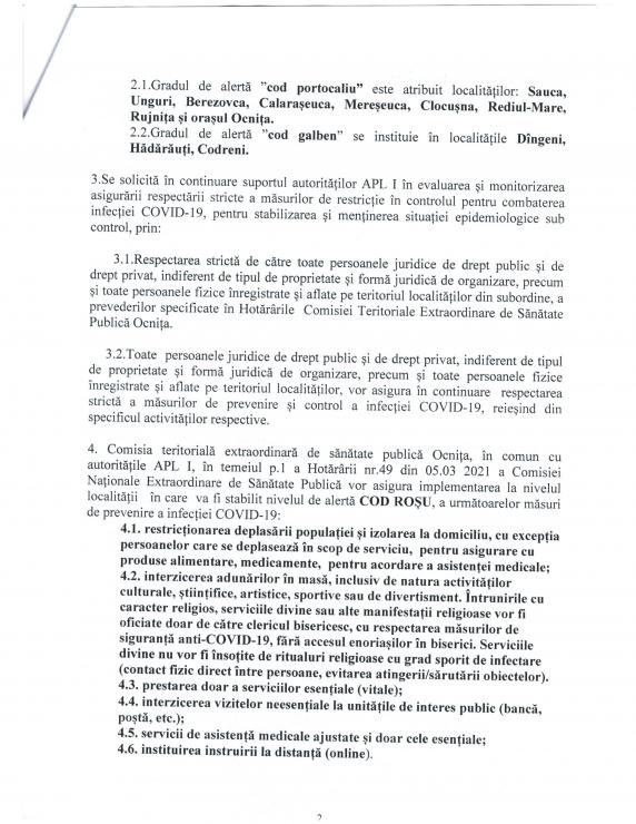 /DOC/ Situația epidemiologică în raionul Ocnița se agravează. 14 localități sub Cod Roșu de răspândire a infecției COVID-19 2 14.04.2021