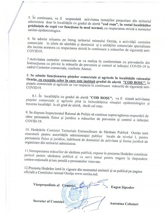 /DOC/ Situația epidemiologică în raionul Ocnița se agravează. 14 localități sub Cod Roșu de răspândire a infecției COVID-19 3 14.04.2021