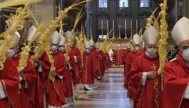 Папа римский отслужил мессу в Вербное воскресенье без прихожан 1 18.04.2021