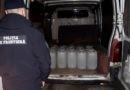 Pete trei sute litri de alcool etilic transportat ilegal în raionul Ocnița. Transportatorul riscă amendă