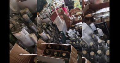 /VIDEO/ Alcool contrafăcut în valoare de peste 35 mii de lei depistat la Bălți