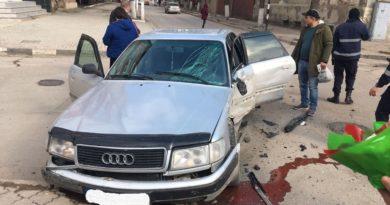 /FOTO/ Accident de 8 martie la Bălți. Vinovatul a fugit de la fața locului