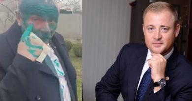 Două cauze penale după ce vicepreședintele raionului Sângerei a fost stropit cu verde de briliant. Cavcaliuc condamnă reținerea membrului PACE