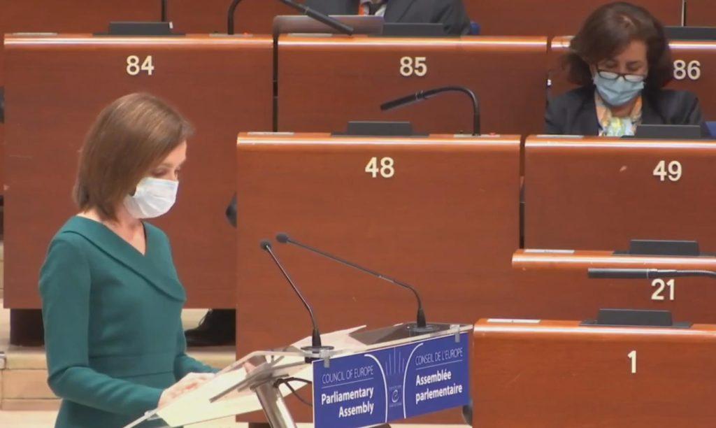 Foto Главные темы выступления президента Майи Санду в Парламентской ассамблеи совета Европы 2 17.10.2021