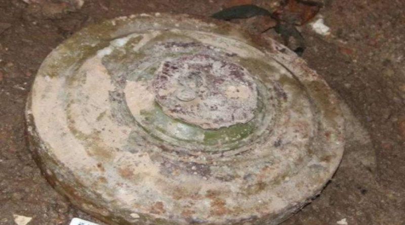 O mină antitanc a fost descoperită în subsolul unui bloc locativ din orașul Glodeni