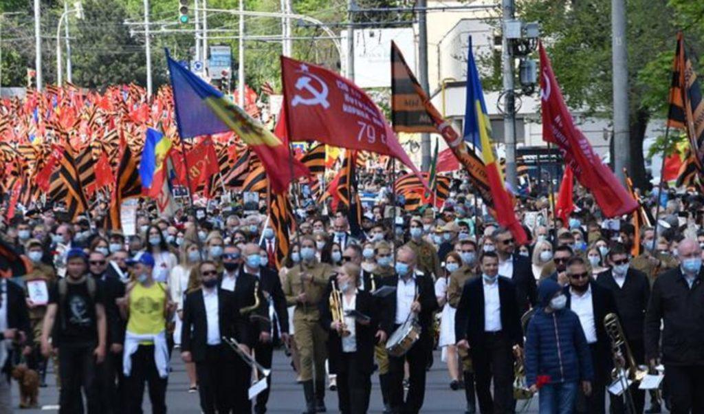 Foto Marș pe timp de pandemie cu peste zece mii de persoane organizat de Ziua Victoriei la Chișinău 3 18.09.2021