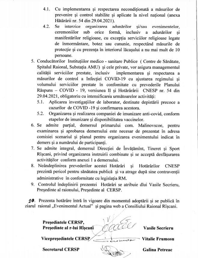 Foto /DOC/ Locuitorii raionului Râșcani nu vor avea acces în cimitire de Paștele Blajinilor 2 21.06.2021