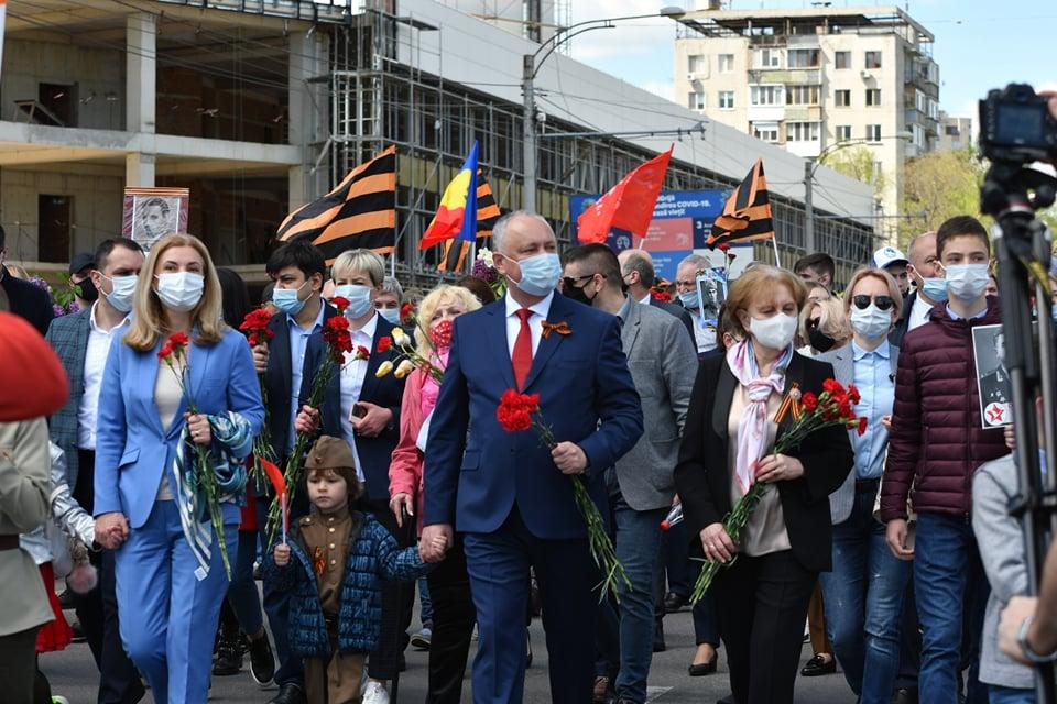 Foto Marș pe timp de pandemie cu peste zece mii de persoane organizat de Ziua Victoriei la Chișinău 2 18.09.2021