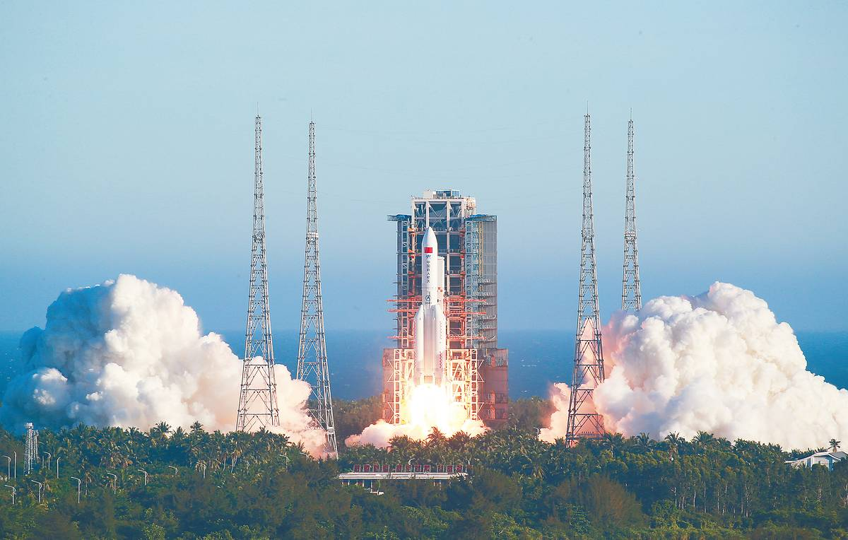Китайская ракета упадет на Землю в День победы, а специалисты до сих пор не могут предсказать её место падения 6 11.05.2021