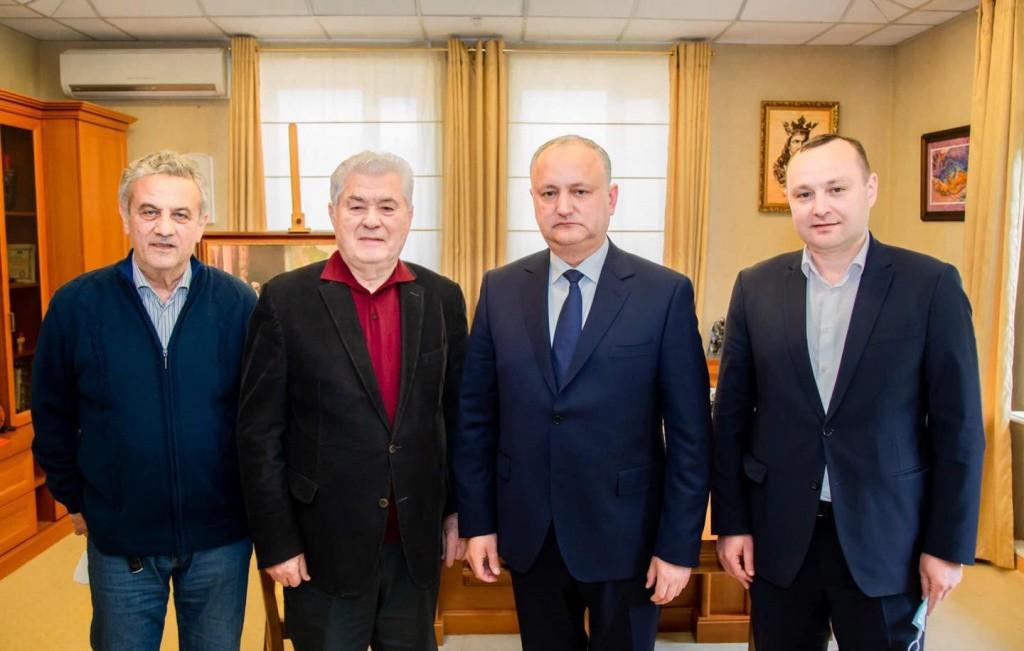 Foto Игорь Додон и Владимир Воронин подписали соглашение о создании ежиного предвыборного блока 2 18.09.2021