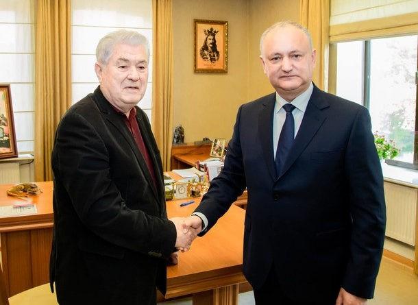 Foto Игорь Додон и Владимир Воронин подписали соглашение о создании ежиного предвыборного блока 1 18.09.2021