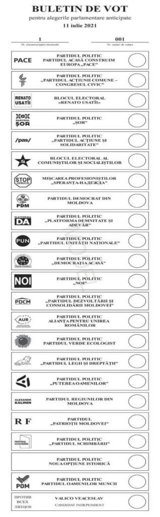 Foto /FOTO/ Vezi cum va arăta buletinul de vot pentru alegerile prezidențiale 1 26.10.2021