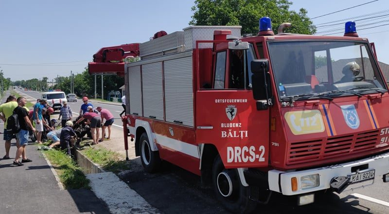 Foto /VIDEO/ Cal prăbușit într-un șanț de pe marginea carosabilului în raionul Fălești. A fost nevoie de intervenția salvatorilor 1 20.09.2021