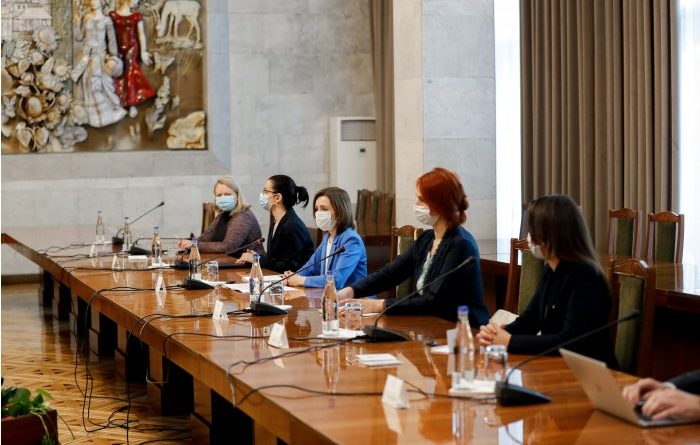 Foto Майя Санду встретилась с членами делегации Парламентской ассамблеи Совета Европы 1 17.10.2021
