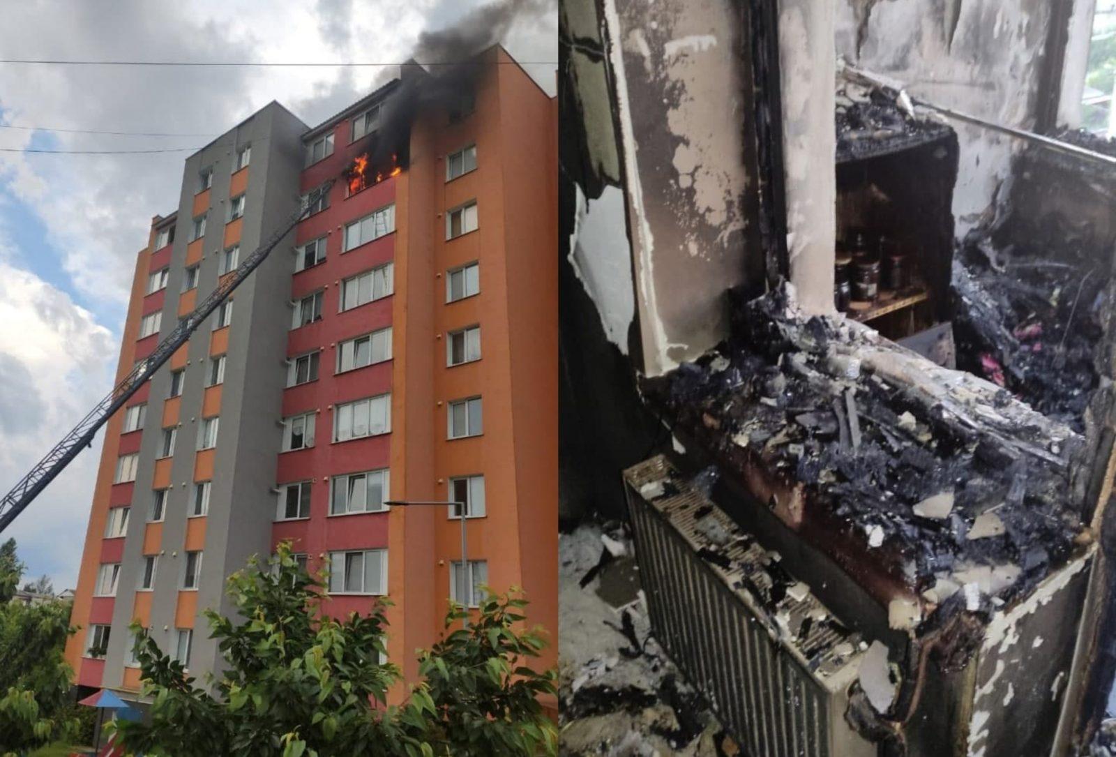 /FOTO/ Incendiu într-un bloc locativ din orașul Soroca. Mai multe persoane au fost evacuate