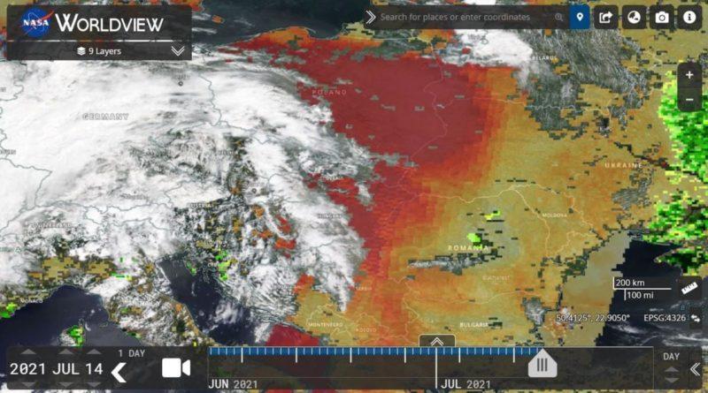 Foto На Молдову надвигается пылевое облако из Сахары 1 28.07.2021