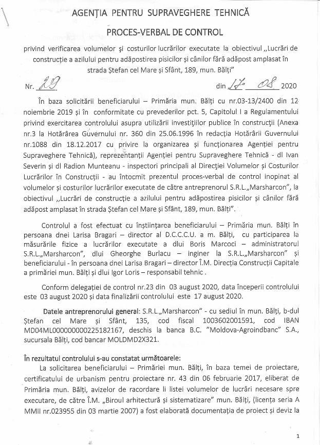 Foto Строительство бельцкого приюта для собак по цене 450 евро за кв. метр: новое расследование 10 17.10.2021