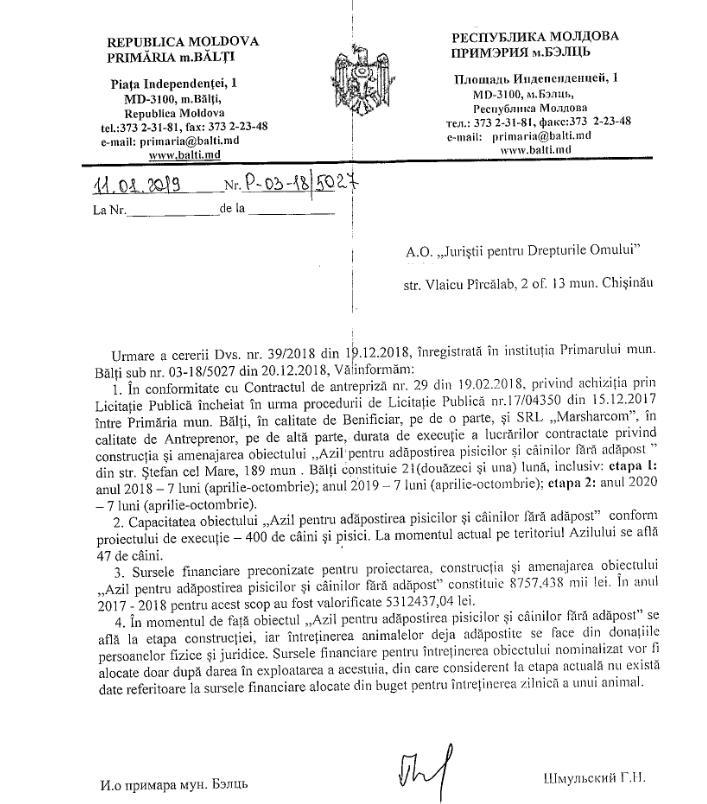 Foto Строительство бельцкого приюта для собак по цене 450 евро за кв. метр: новое расследование 14 17.10.2021