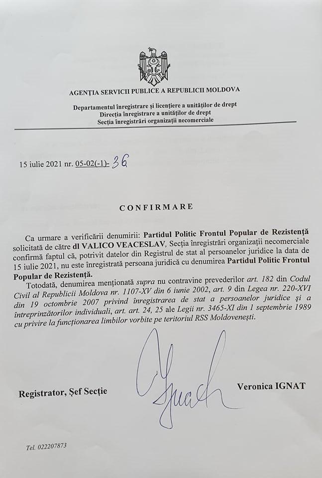 Foto /DOC/ Candidatul independent de la alegerile parlamentare, Veaceslav Valico, își creează propriul partid 1 17.10.2021