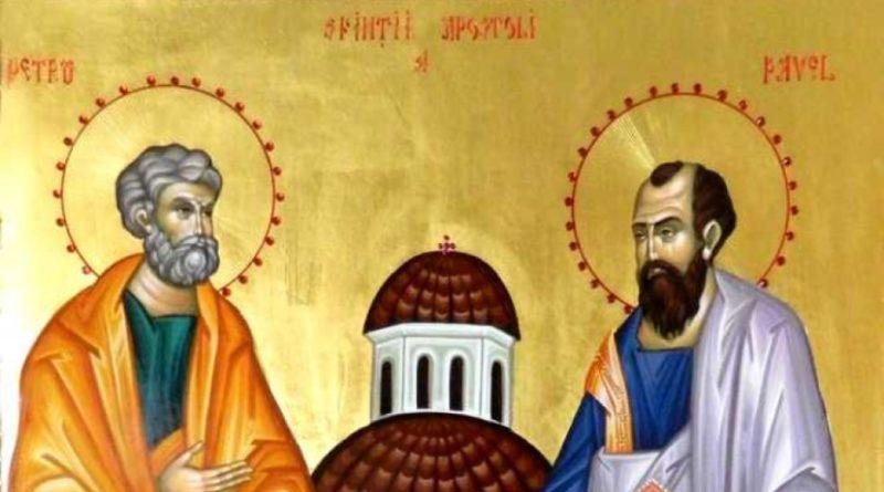 Creștinii ortodocși de rit vechi îi cinstesc pe Apostolii Petru și Pavel