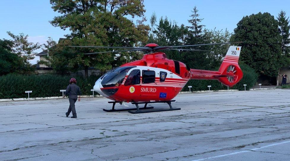 /VIDEO/ Intervenție aero-medicală SMURD Bălți-Iași. Un bărbat a suportat complicații în urma unei maladii