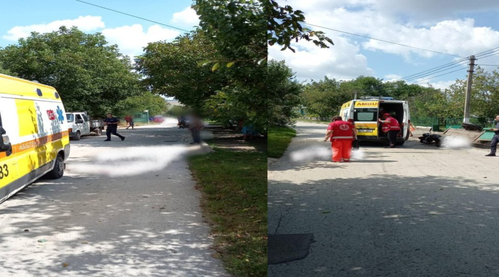 Accident de motocicletă în raionul Dondușeni. Două persoane transportate la spital