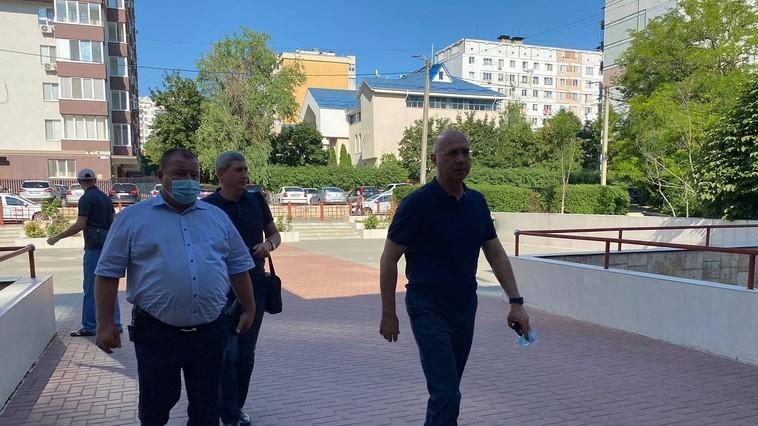 Foto Бывший премьер-министр Павел Филип и экс-депутаты от ДПМ требуют освобождения Пынзаря 1 21.09.2021
