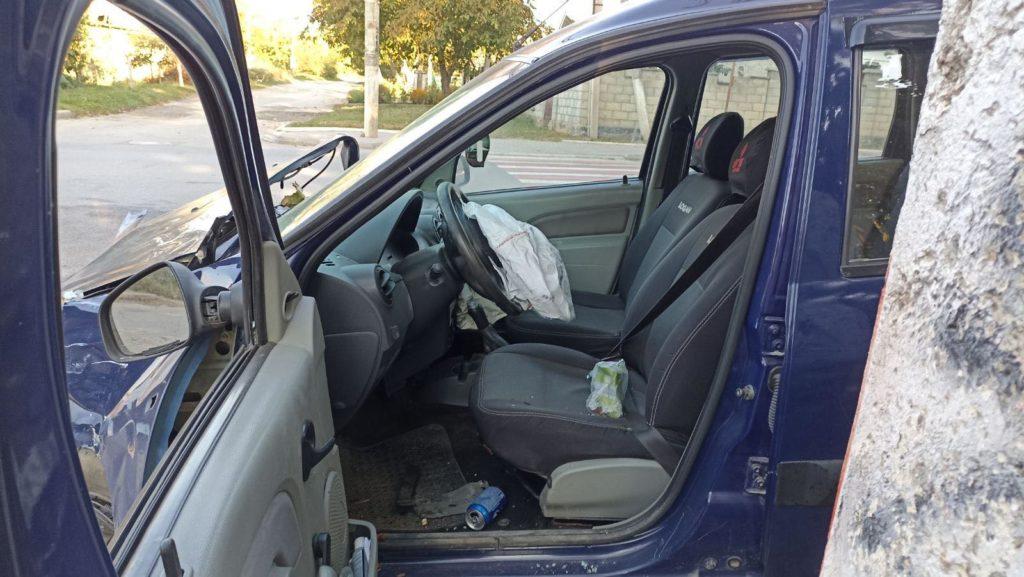 Foto /VIDEO/ Accident violent în Bălți, cu implicarea unei mașini de pază. Două persoane au ajuns la spital 6 27.10.2021