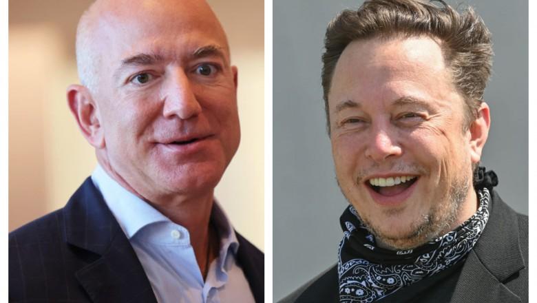 Foto Elon Musk l-a depășit pe Jeff Bezos și a devenit cel mai bogat om din lume. Ca să nu uite momentul, îi va trimite o medalie de argint 1 27.10.2021