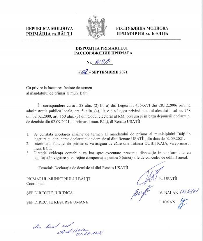 Foto Orașul Bălți are un nou primar interimar 1 27.10.2021
