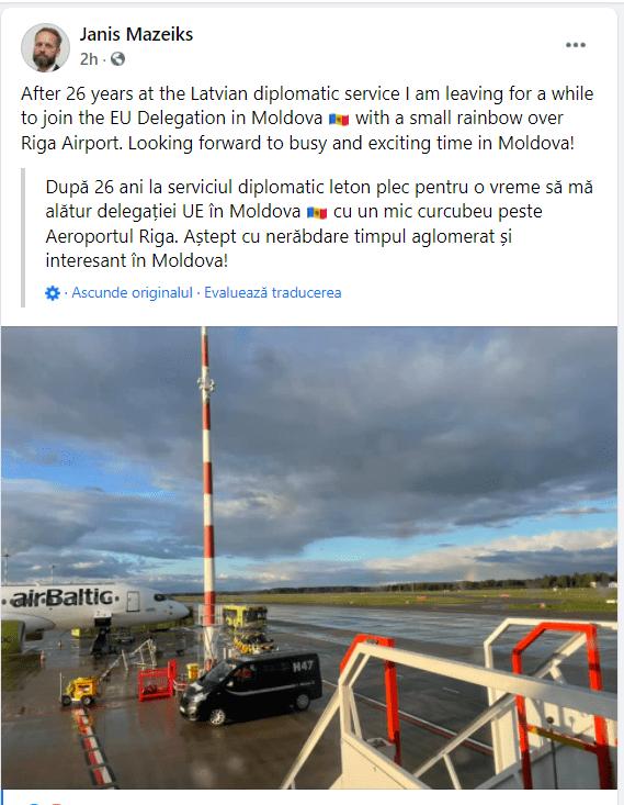 Foto Noul șef al delegației Uniunii Europene în Republica Moldova ajunge astăzi la Chișinău 2 21.09.2021